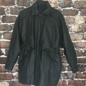 Other - Men's leather dressy motorcycle jacket coat large